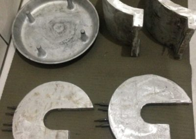 Resistência e tampa de enceradeira em Alumínio